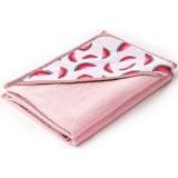 Prosop cu gluga Sensillo Pastel 100x100 cm pink