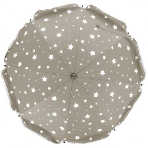 Umbreluta parasolara pentru carucioare Fillikid 70 cm stelute natur