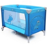 Patut pliabil cu 2 nivele Coto Baby Samba Plus blue