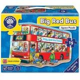 Puzzle de podea Orchard Toys Autobuzul 15 piese