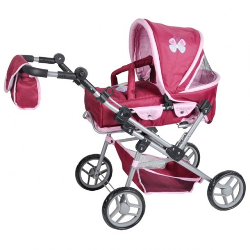 Carucior pentru papusi Knorrtoys Mioux Sweet Butterfly
