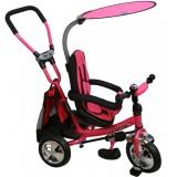 Tricicleta cu copertina si sezut reversibil Baby Mix Safari Break pink