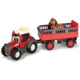 Tractor Dickie Toys Happy Ferguson Animal Trailer cu remorca si figurina cal {WWWWWproduct_manufacturerWWWWW}ZZZZZ]