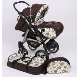 Carucior Baby Merc Junior Plus 2 in 1 Brown owls