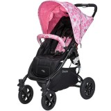 Carucior Valco Snap 4 CZ Edition cu roti gonflabile white and pink flowers