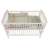 Lenjerie patut MyKids 3 piese Bear On Moon Mint 140x70