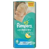 Scutece Pampers active baby-dry 6 extra large giant pack 56 buc pentru 15+ kg