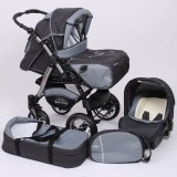 Carucior Baby Merc Junior Plus 3 in 1 Graphite grey