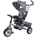 Tricicleta cu copertina si sezut reversibil Sun Baby Confort Plus melange gri