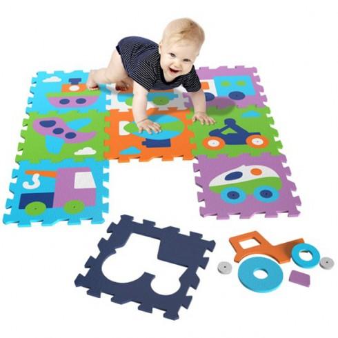 Covoras de joaca Knorrtoys Vehicles puzzle
