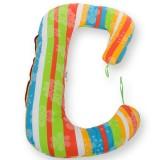Perna de alaptat BabyNeeds Soft Plus 3 in 1 curcubeu
