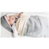 Sac de dormit Wallaboo fleece 0-9 luni grey ecru