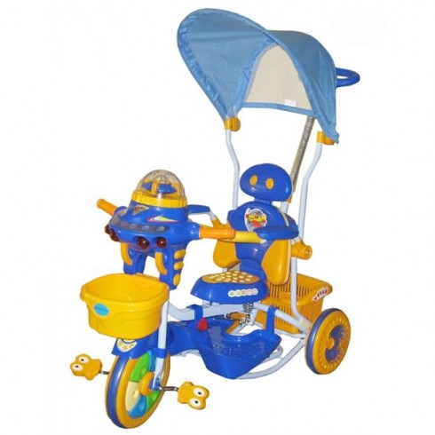 Tricicleta cu copertina Eurobaby 2890ac albastru