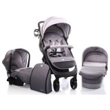 Carucior Cangaroo Noble 3 in 1 grey