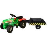 Tractor Super Plastic Toys Hard Truck cu remorca green
