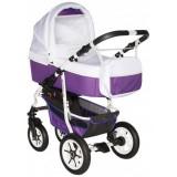 Carucior Pj Baby Pj Stroller Comfort 2 in 1 white purple