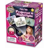 Proiector Brainstorm Toys cu imagini din basm si lampa de veghe