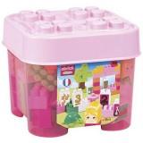 Set cuburi de constructie Ecoiffier Abrick roz