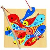 Joc de pescuit si puzzle Bino Magnetic Aquari