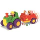 Jucarie muzicala A-Haberkorn Tractor cu remorca