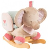 Scaunel balansoar Nattou Elefantelul Rose