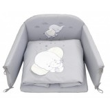 Lenjerie patut PJ Baby Elephant 120 x 60 cm Grey