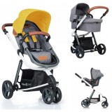 Carucior Kiddo Juke Deluxe 3 in 1 lemon