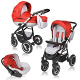 Carucior Vessanti Crooner Prestige 3 in 1 red