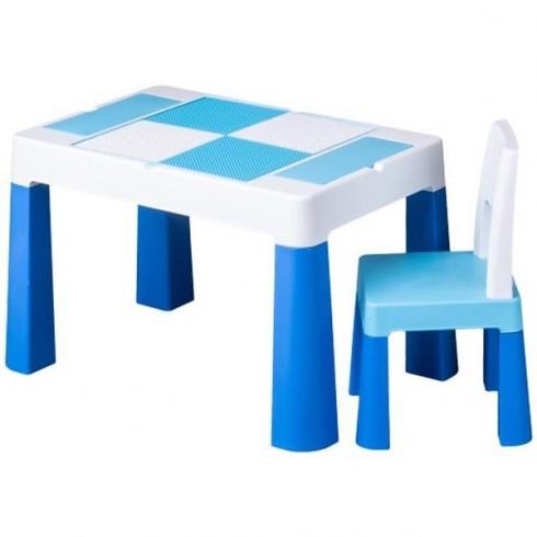 Set masuta cu scaun Tega Baby Multifun albastru