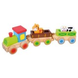 Trenulet Bino cu 2 vagoane Calut si Vacuta