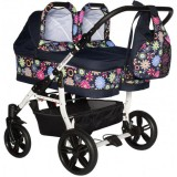 Carucior Pj Baby Pj Stroller Twins 3 in 1 multicolor