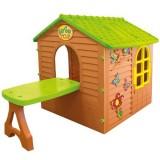 Casuta pentru copii Mochtoys Garden House cu masuta si abtibilduri