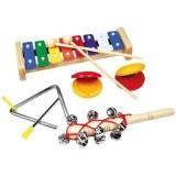 Set Bino 4 Instrumente Muzicale cu Xilofon