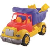 Masinuta Ucar Toys Autobasculanta cu lopatica si grebla 43 cm
