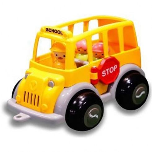 Set VikingToys Midi Autobuz scolar cu sofer si 2 elevi