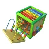 Cub din lemn Baby Mix cu multiple activitati