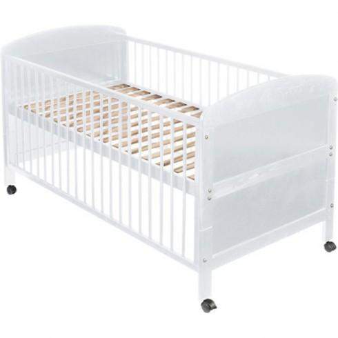 Patut copii din lemn Easy Baby 70x140 cm alb