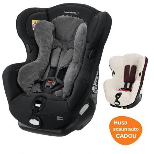 Scaun auto Bebe Confort Iseos Neo digital black cu husa de vara