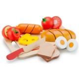 Jucarie New Classic Toys Platou cu diferite alimente