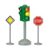 Set Dickie Toys Semafor City Light cu 2 semne rutiere