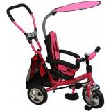 Tricicleta cu copertina si sezut reversibil Baby Mix Safari WS611 pink
