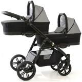 Carucior Pj Baby Pj Stroller Lux 2 in 1 grey