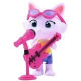 Figurina Smoby 44 Cats Milady 7,7 cm cu microfon si chitara bass