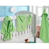 Set de baie nou-nascut Ladik 5 piese Verde