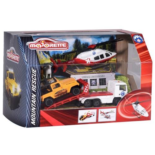 Set Majorette Diorama Mountain Rescue cu 2 masinute, 1 elicopter si 3 figurine {WWWWWproduct_manufacturerWWWWW}ZZZZZ]