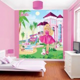 Tapet Walltastic Barbie My Pink Palace