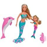 Set Simba Steffi Love Mermaid Friends papusa 29 cm, papusa 12 cm, delfin si accesorii {WWWWWproduct_manufacturerWWWWW}ZZZZZ]