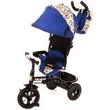 Tricicleta cu copertina si sezut reversibil Kidz Motion Tobi Venture albastru