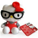 Jucarie de plus Intek Hello Kitty cu ochelari 16 cm Tip 2