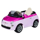 Masinuta Peg Perego Fiat 500 pink cu telecomanda